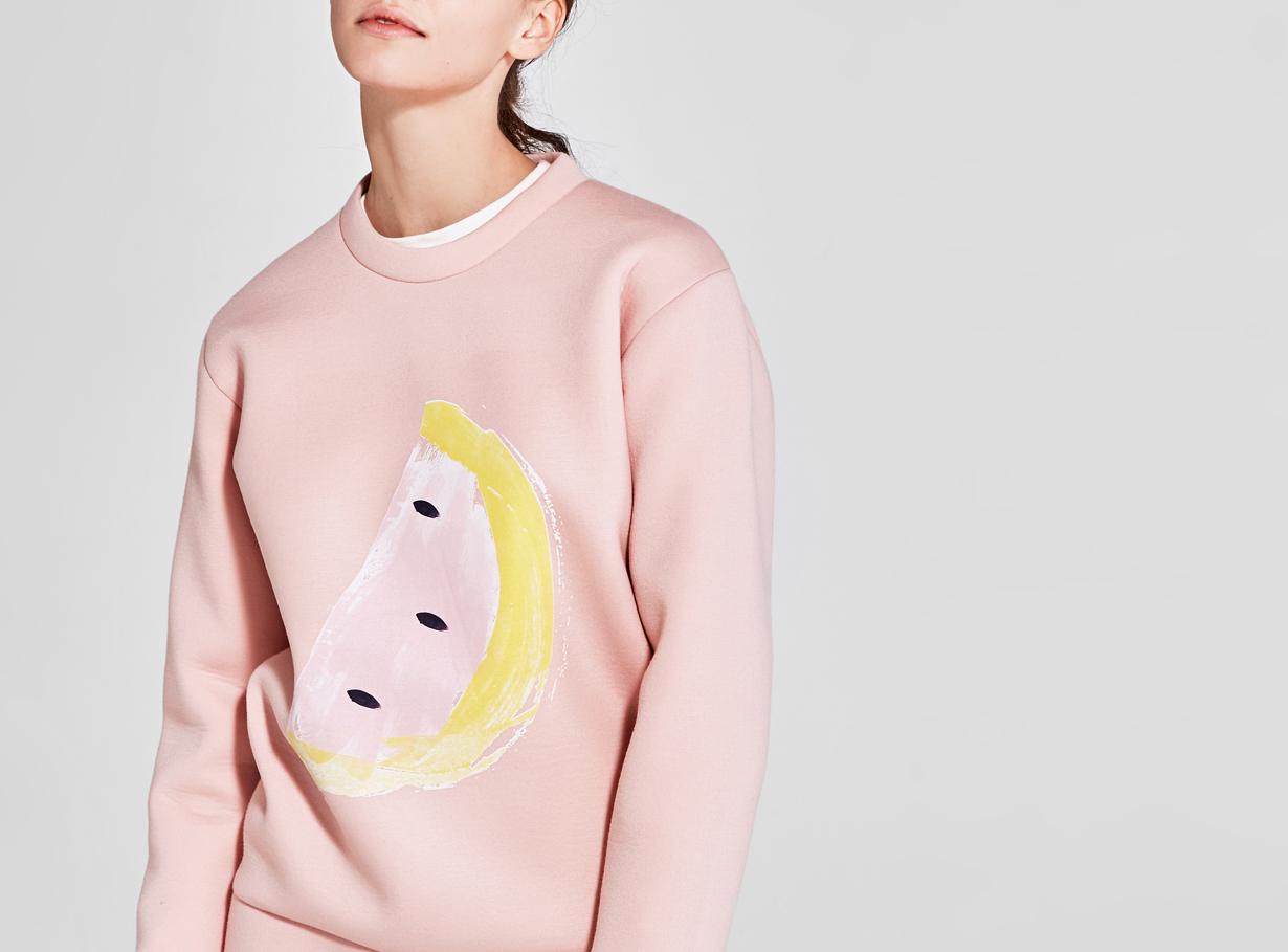 보놉 watermelon neoprene sweatshirt