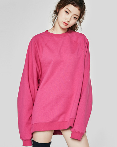 pink wide sweatshirts