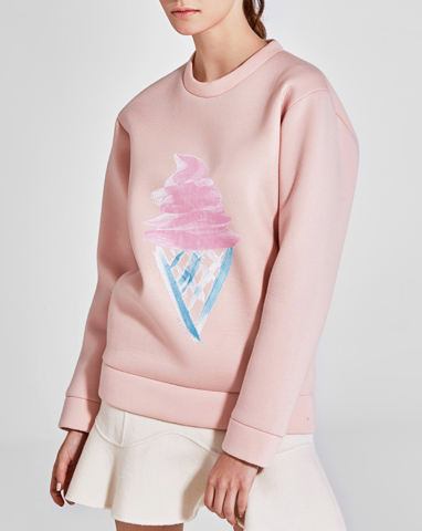 icecream neoprene sweatshirt