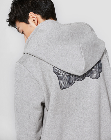보놉 graphic loosefit hood zipup