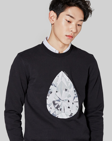 waterdrop piece sweatshirt