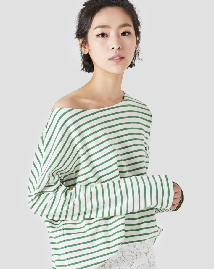 boatneck stripe loosefit t-shirt(배송지연)