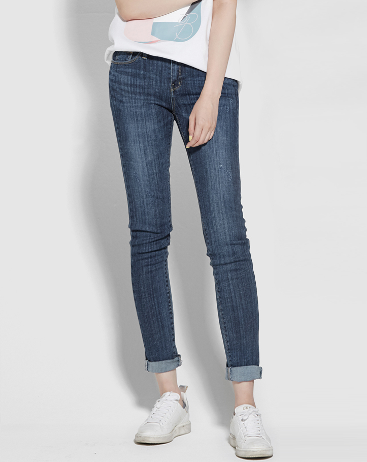 보놉 deepblue skinny denim pants